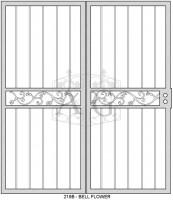 219B bell flower dbl 173x200 Security Door Designs