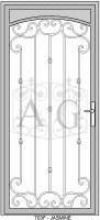 Jasmine Faux 91x200 Security Door Designs