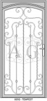 Tempest Arch 94x200 Security Door Designs